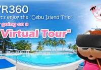 "Cebu Island's first ""Cebu Trip VR (Virtual Reality)"", a tourist information site where you can watch"