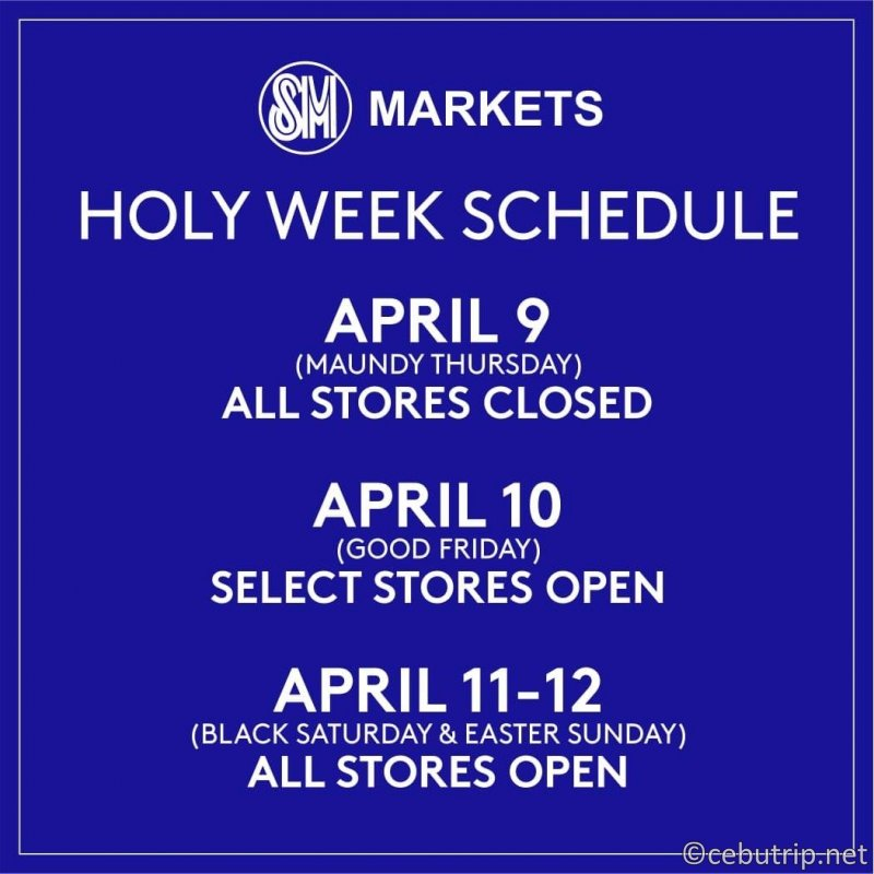 《コミュニティ検疫期間中ホーリーウィーク》セブ・マクタン島内「スーパーマーケット」営業時間のご案内(2020)