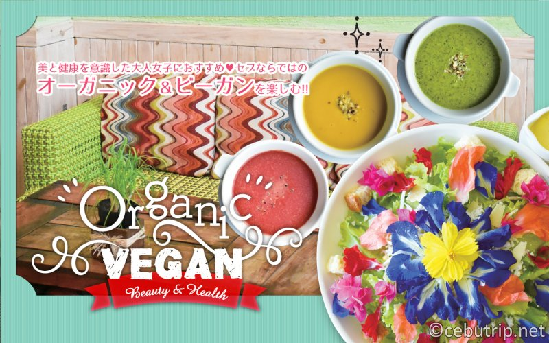 【ヘルシーレストラン!】フィリピン・セブ島で楽しめるオーガニック&ヴィーガン料理!