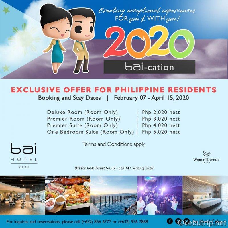 プロモ割引>セブ居住者限定プロモ!Bai Hotelが1泊2020ペソで利用できる!