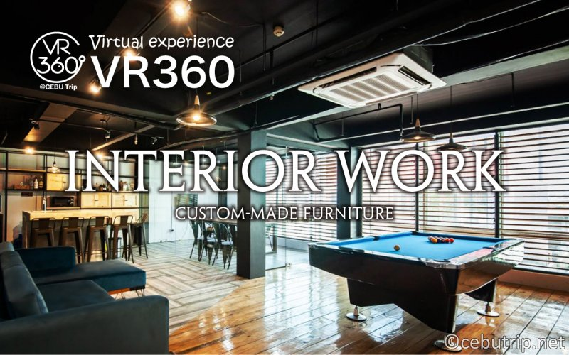 Interior work in Cebu Island ・ A Must-see for those who are looking for custom-made furniture!