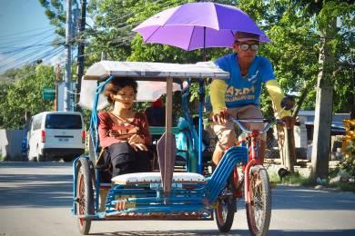 庶民の乗り物自転車タクシー